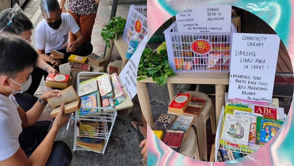 This Community Pantry in Quezon City Also Gave Books for Free