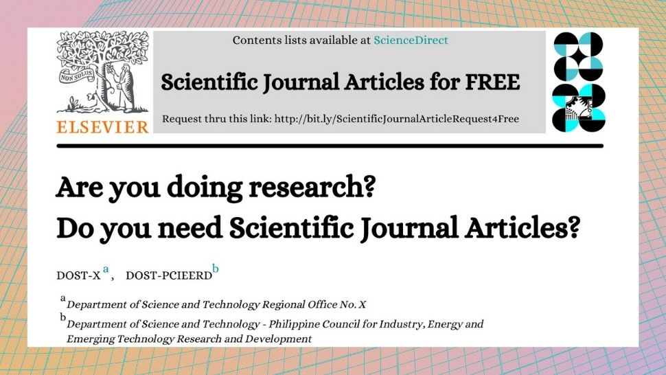 ICYDK, You Can Request for Free Access to Scientific Journals From DOST