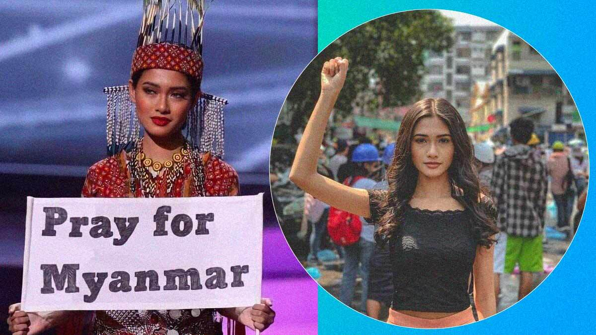 Miss Universe Myanmar Had to Disguise Herself To Travel to the US