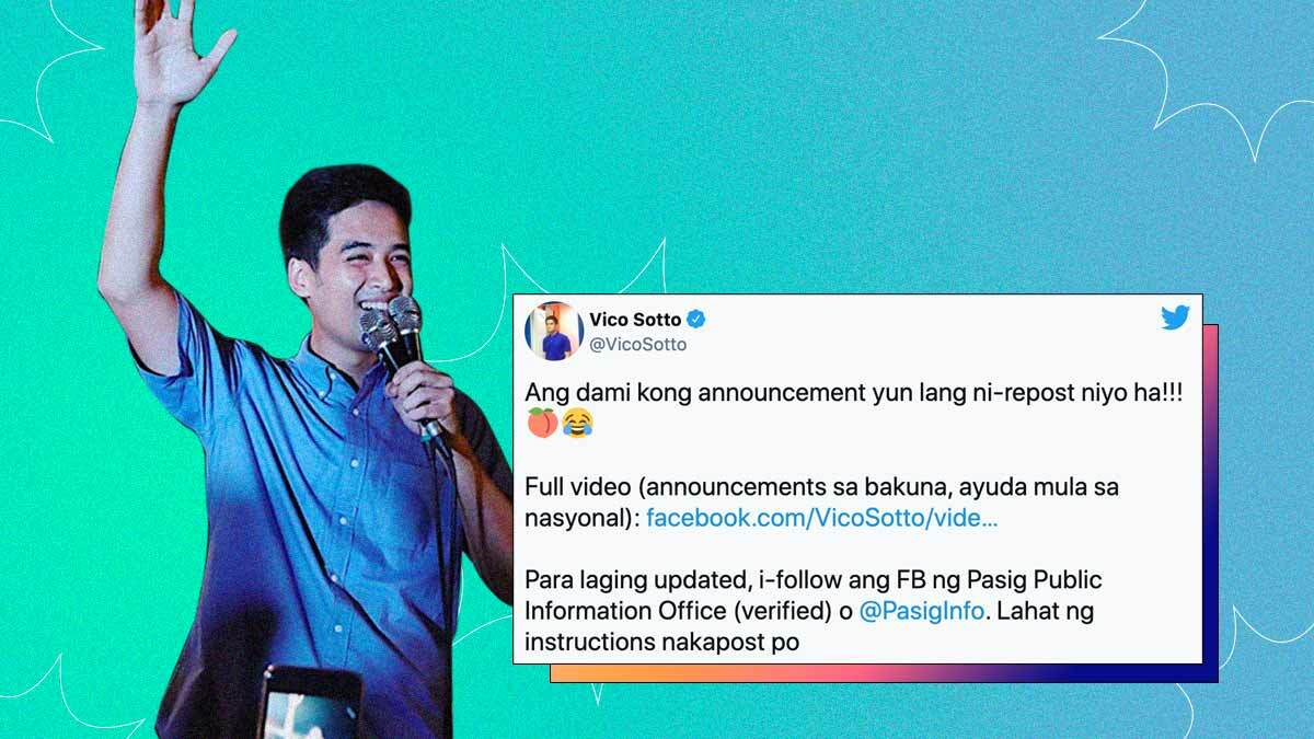 The Funniest Quotes From Vico Sotto in the Past Year