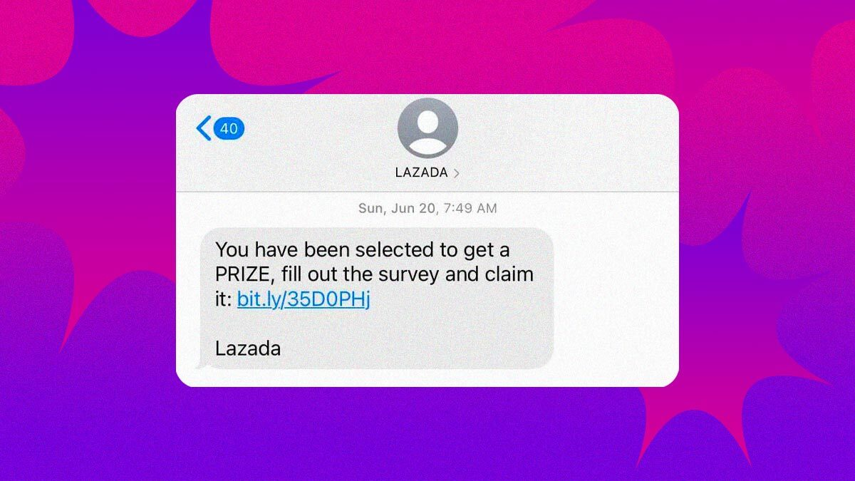 Watch Out for Potential SMS Scams Claiming to Be From Lazada