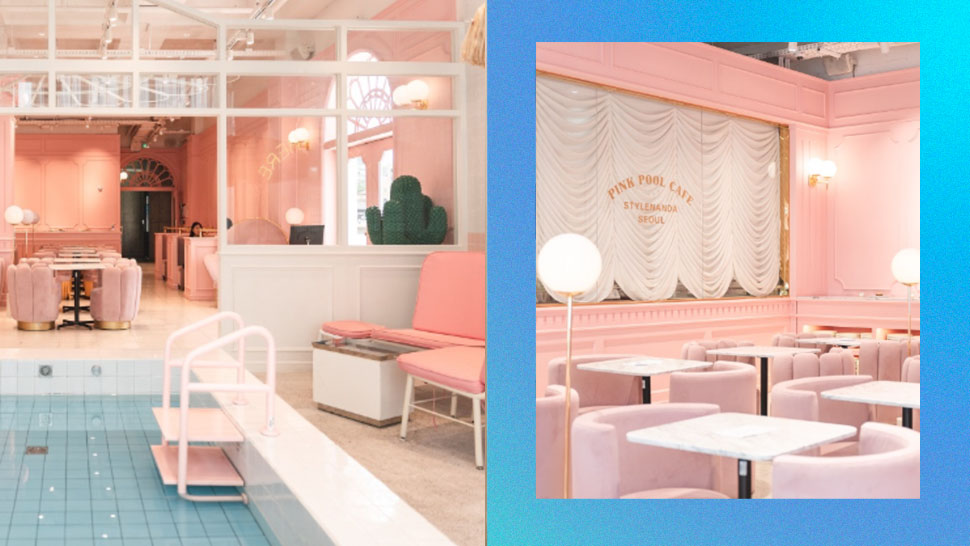 This *Aesthetic* Pink Pool Cafe in Seoul Is Making Us Wish We're in Korea