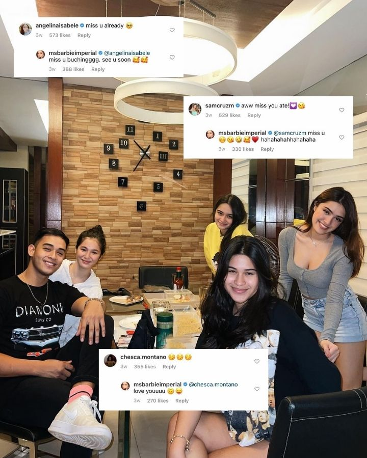 Barbie Imperial and Diego Loyzaga with Angelina, Sam, and Chesca