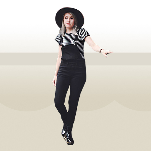 Style Equation: Tee + Overalls Look 4