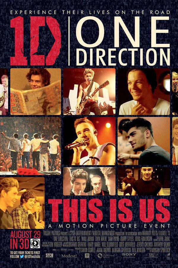1D One Direction This Is Us poster
