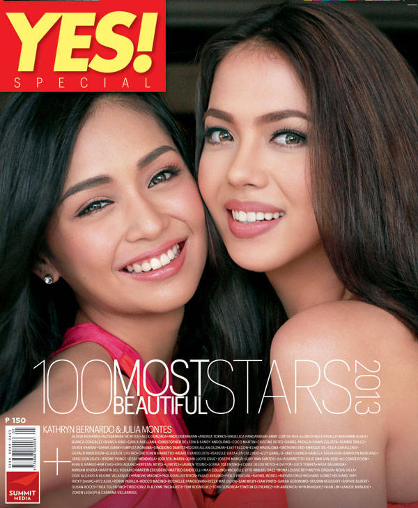 Yes! 100 Most Beautiful Stars cover Kathryn Bernardo and Julia Montes