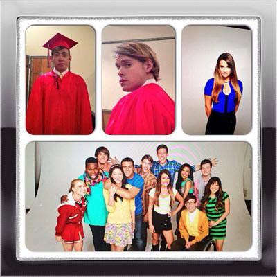 Chord Overstreet, Lea Michele, Melissa Benoist, Cast of Glee