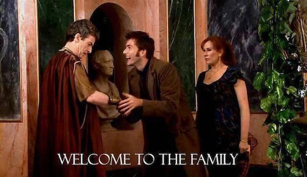 """Ten meets the future Twelve in 2008's """"The Fires of Pompeii."""""""