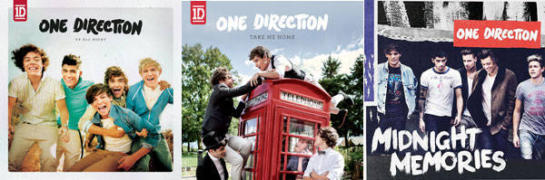 One Direction album covers