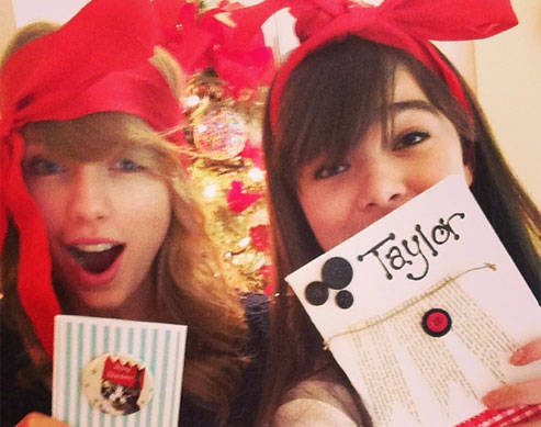 Taylor Swift And Hailee Steinfeld Have A Crafty Christmas-So Adorbs!