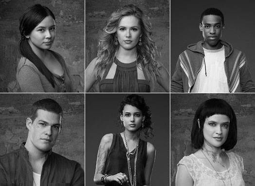 Clockwise from left: Malese Jow, Natalie Hall, Titus Makin, Jr., Brina Palencia, Chelsea Gilligan, Greg Finley
