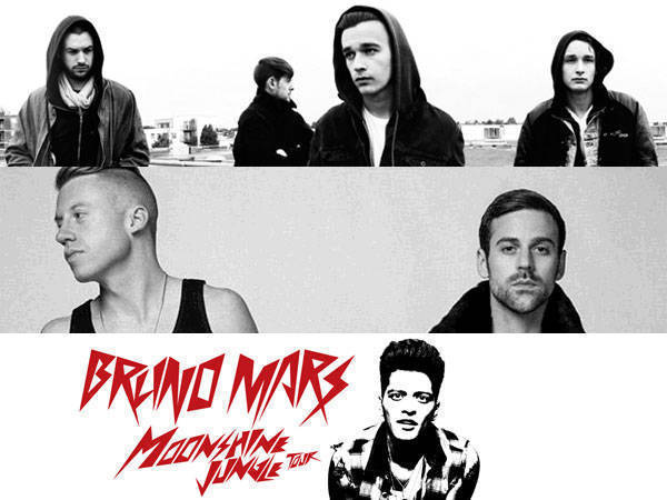 The 1975, Macklemore and Ryan Lewis, Bruno Mars