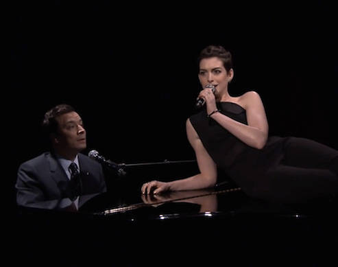 Anne Hathaway Does Raps Broadway Style With Jimmy Fallon