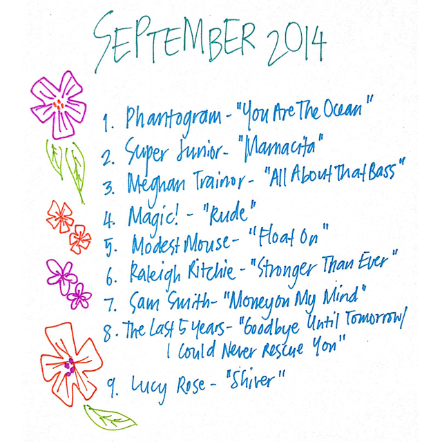 September 2014 Playlist