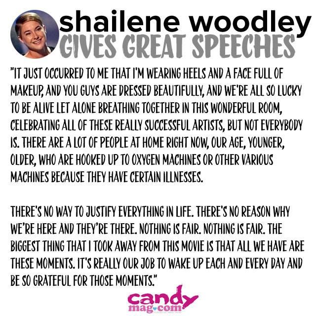 5 Times Shailene Woodley Was Flawless