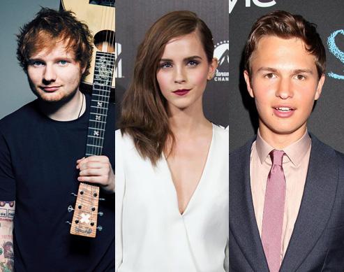 Ed Sheeran, Emma Watson, and Ansel Elgort Make It To Forbes' #30Under30
