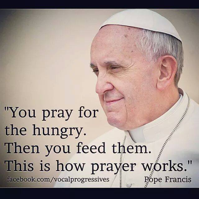 Pope Francis on Praying for Those Who are Hungry