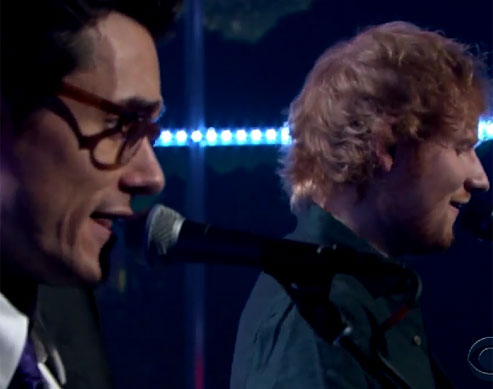 Major Heart Eyes for Ed Sheeran and John Mayer On Stage