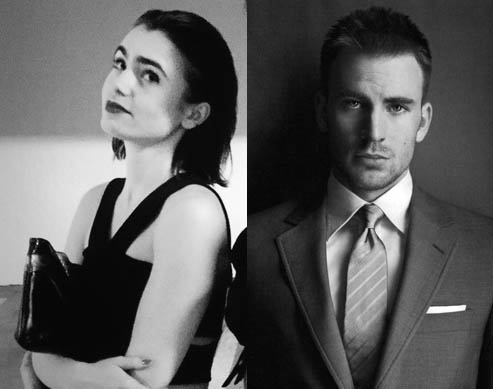 Lily Collins Chris Evans