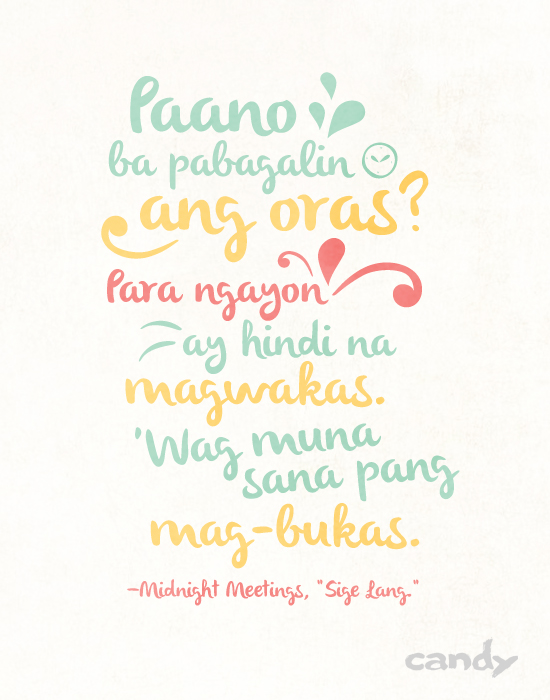 60 Lines From OPM Songs That Will Give You All the Feels Today Candy Fascinating Song Quotes