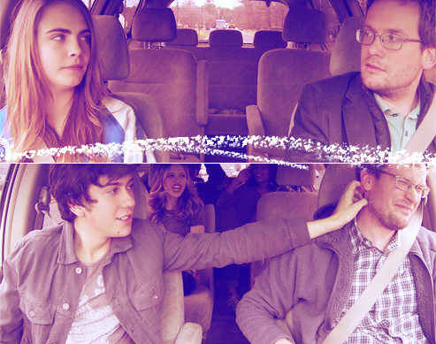 This Is What Happens When the Cast of Paper Towns and John Green Get Together in One Van