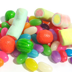 Jelly beans and marshmallow