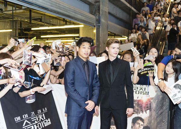 Thomas Brodie-Sangster and Ki Hong Li in Seoul
