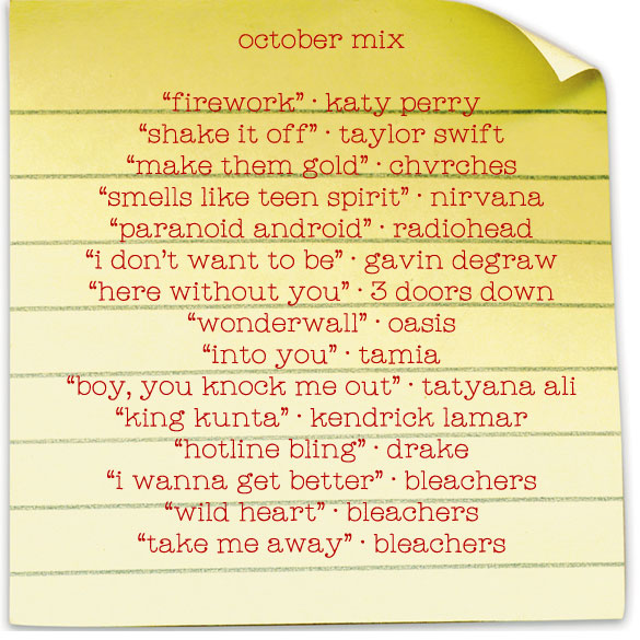 Ask Candy: October 2015 mix