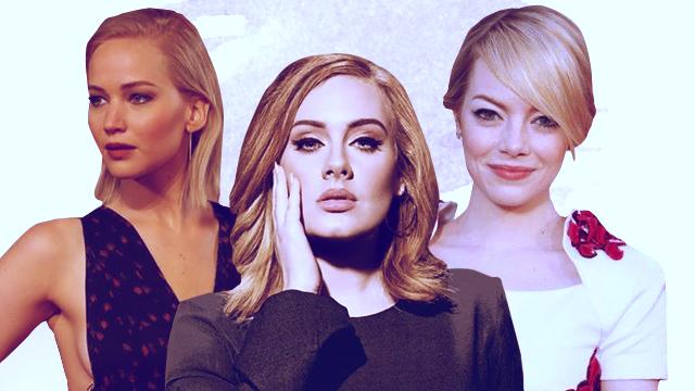 Jennifer Lawrence, Adele, Emma Stone