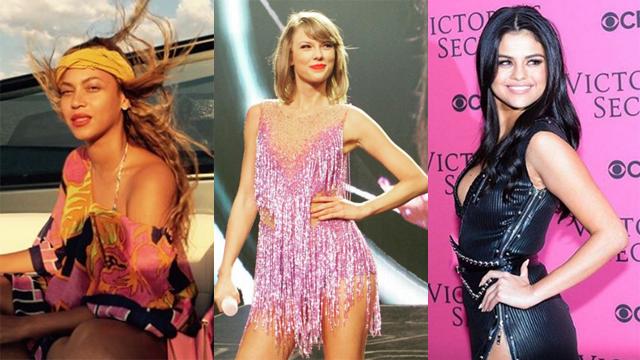 Beyonce Taylor Swift Selena Gomez