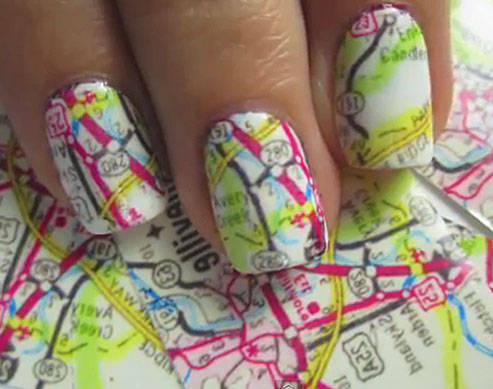 Nail Art Tutorial Map Nails Candy