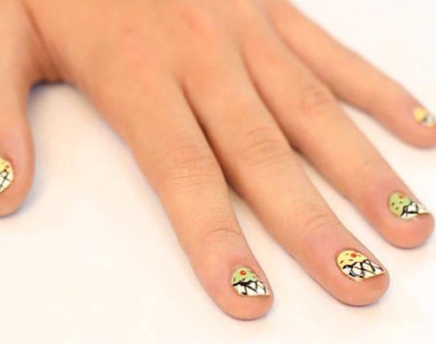 Beauty School Summer Nail Art Tutorial: Ice Cream Nails