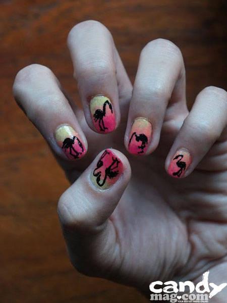 Summer Nails: Flamingo at Sunset