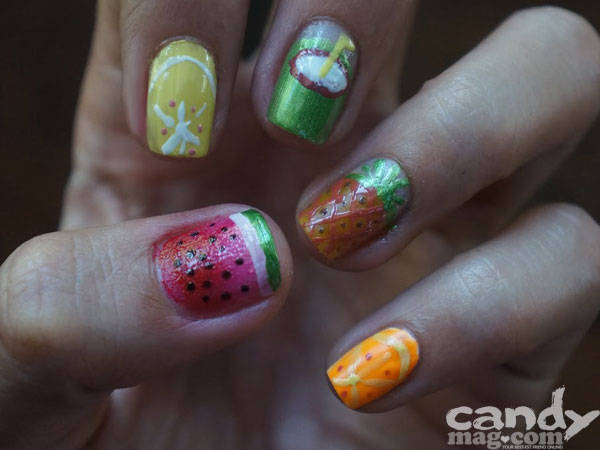 Summer Nail Art: Fruity