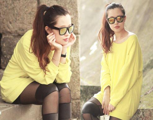 Look We Love: Mayo Wo's Mirrored Sunnies
