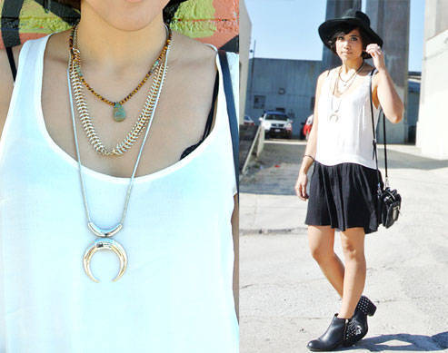 Look We Love: Yuka's Layered Necklaces