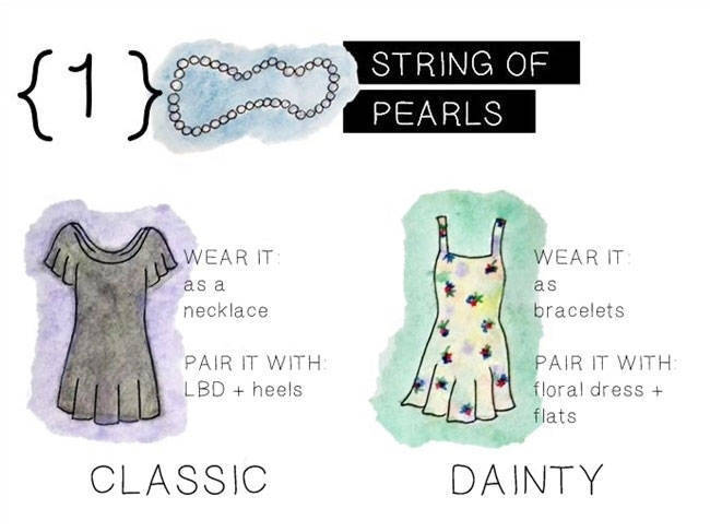 Wardrobe Staple: String of Pearls
