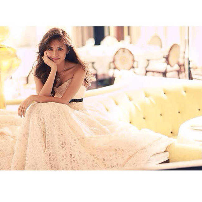 Look We Love Kathryn Bernardo 39 S White Debut Dress Candy