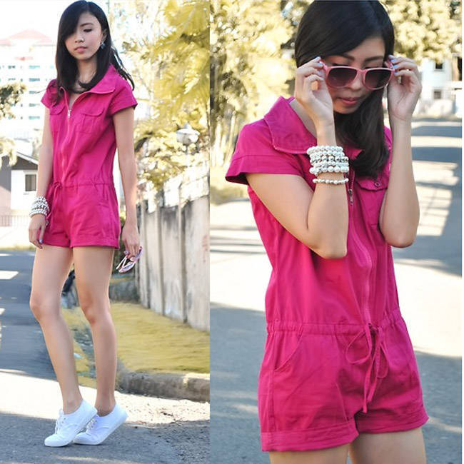 Style Equation: Romper + Sneakers