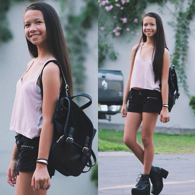 Style Equation: Top + Shorts + Backpack