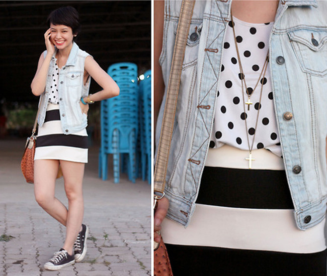 Style Equation: Stripes + Polka Dots