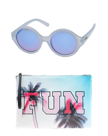 glasses and bag
