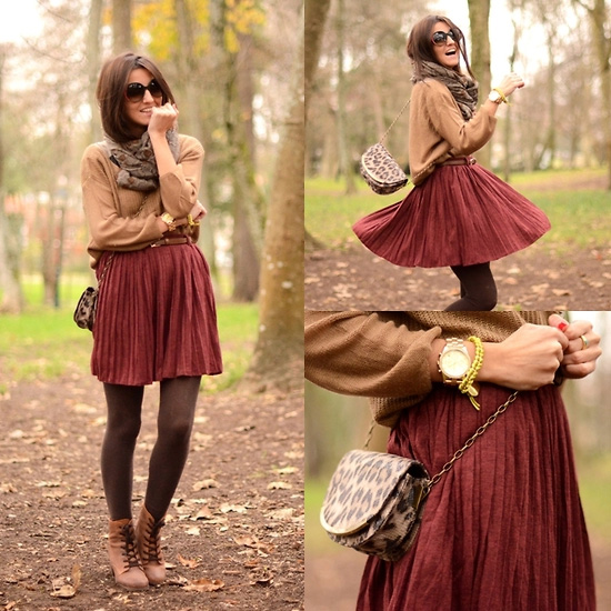 brown and marron