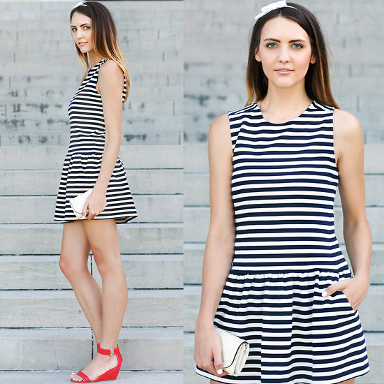 Style Equation: Drop Waist Dress + Heels