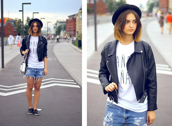 Style Equation: Denim + Leather