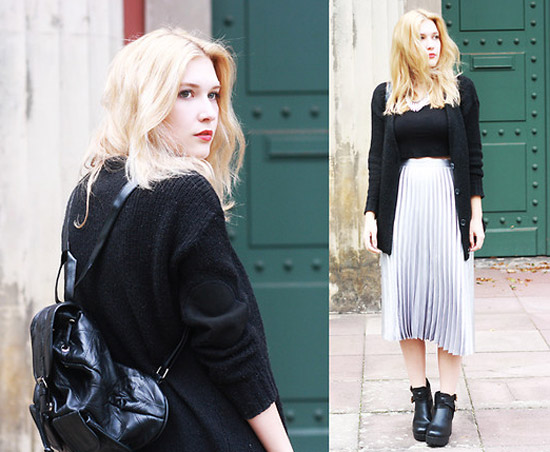 Style Equation: Sweater + Metallic Skirt