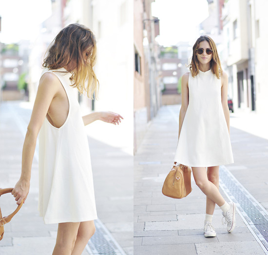 Outfit We Love: Dress + White Sneakers
