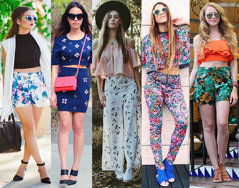 Style Equation: Crop Top + Floral Bottoms