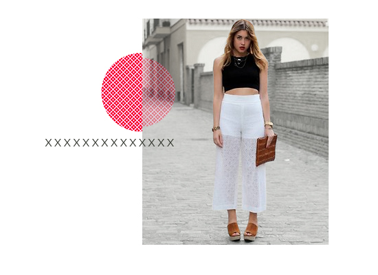 Crop Top + Culottes outfit