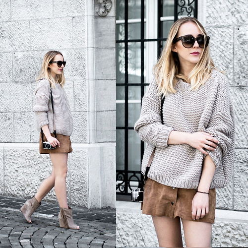 Knit Top + Skirt Outfit 2